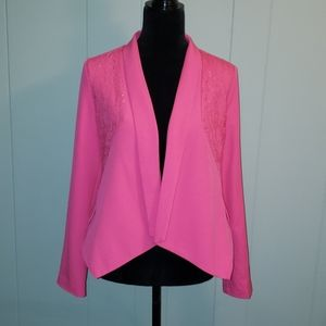 Skies Are Blue Hot Pink Lace Blazer Jacket Girly